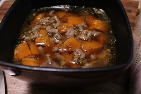 Sweet Potato, Sausage and Sage Soup. Paleo and flavorful, great for those cold winter days!