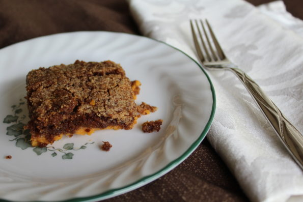 Paleo Pumpkin Pie Dump Cake, so simple and delicious!