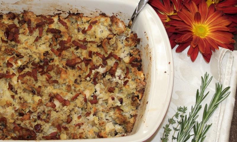 Paleo Thanksgiving Bacon, Sausage Apple Stuffing