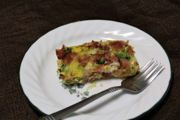 Spaghetti squash breakfast casserole with Bacon and Broccoli, easy to make, paleo and Whole 30 compliant. A great, healthy meal for those busy mornings!