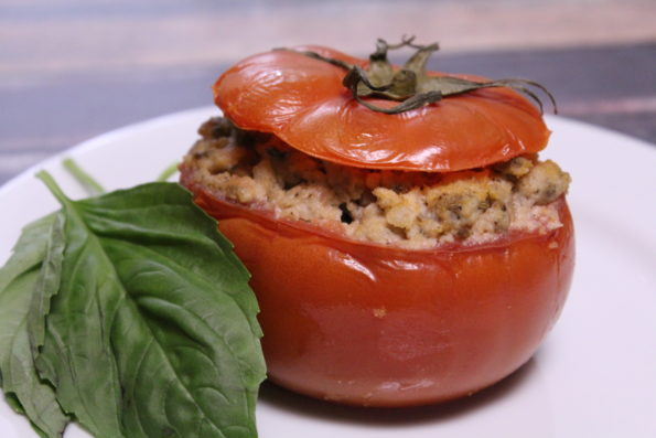Slow Cooker Paleo Stuffed Tomatoes - simple, Whole30 compliant, and paleo
