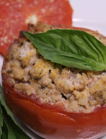 Slow Cooker Italian Stuffed Tomatoes - paleo and Whole 30 compliant