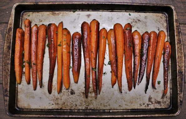 Sweet Balsamic Roasted Carrots - a sweet and savory vegetable dish