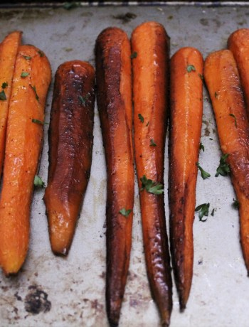 Sweet Balsamic Roasted Carrots - an easy, sweet and savory paleo recipe