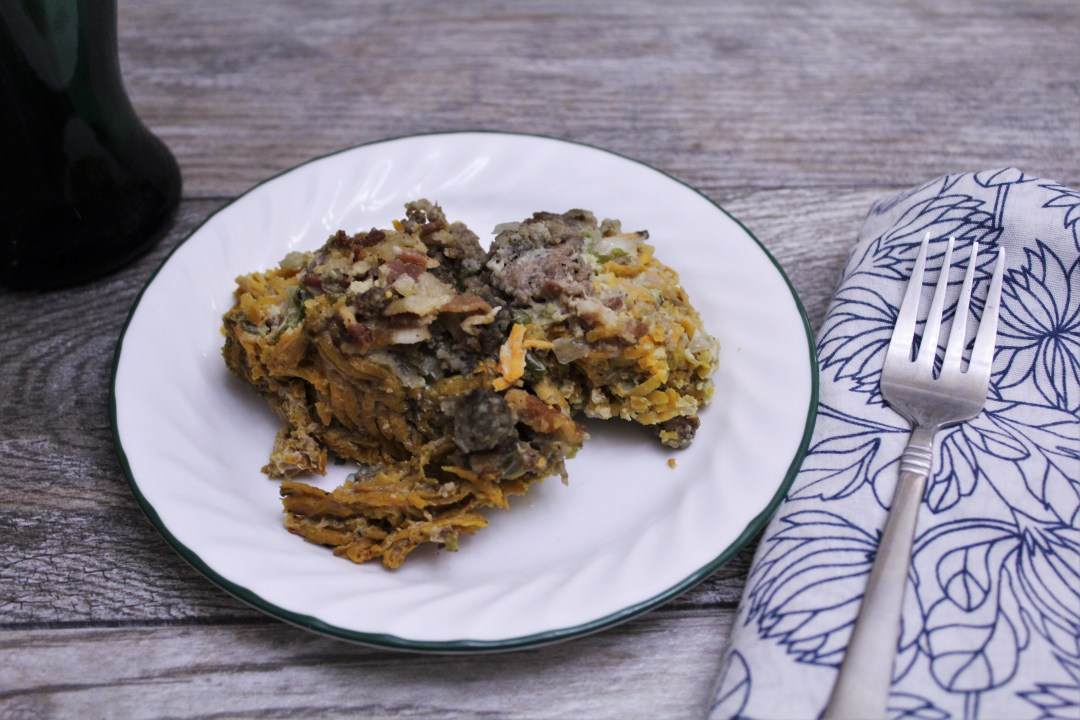Overnight Crockpot Breakfast Casserole - wake up to a warm, cooked paleo breakfast!
