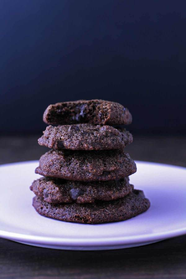 Paleo Chewy Chocolate Cookies - these cookies are soft, chewy, chocolatey and delicious! Only takes about 15 minutes to make!