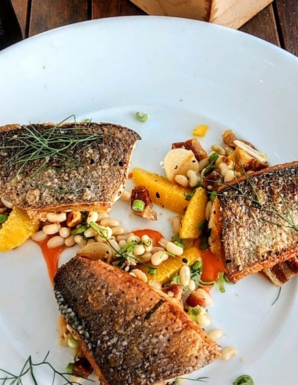 Seared Branzino from Olive & June
