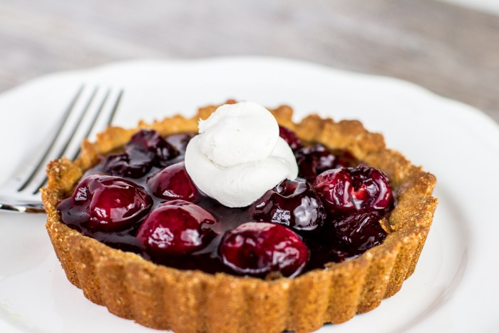 Paleo Cherry Tart with Coconut Whipped Cream