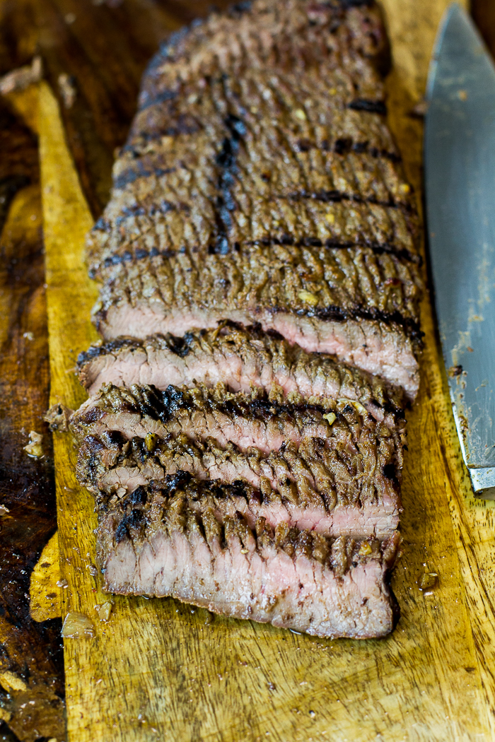 Sliced Paleo Grilled Flank Steak