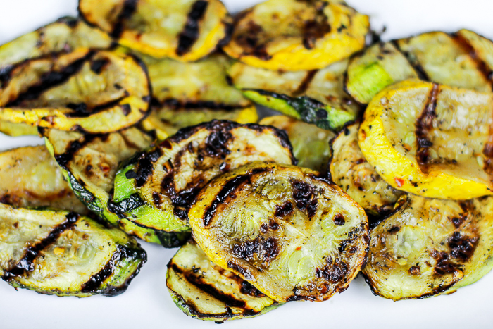 Spicy Grilled Summer Squash--the perfect paleo summer side dish!