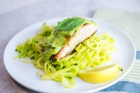 Lemon Basil Avocado Salmon with Zoodles
