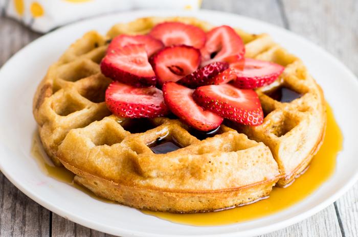 Paleo Strawberry Cassava Flour Waffles