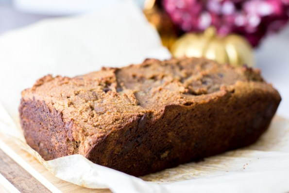 Paleo Chocolate Chip Pumpkin Bread - a delicious gluten-free treat for fall!