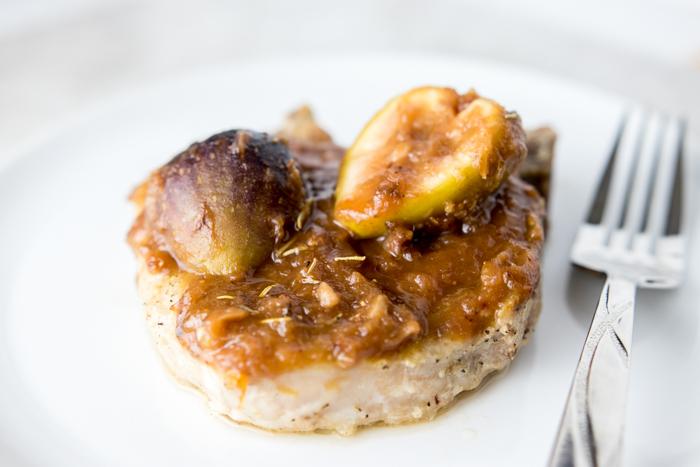 Balsamic Fig Pork Chops