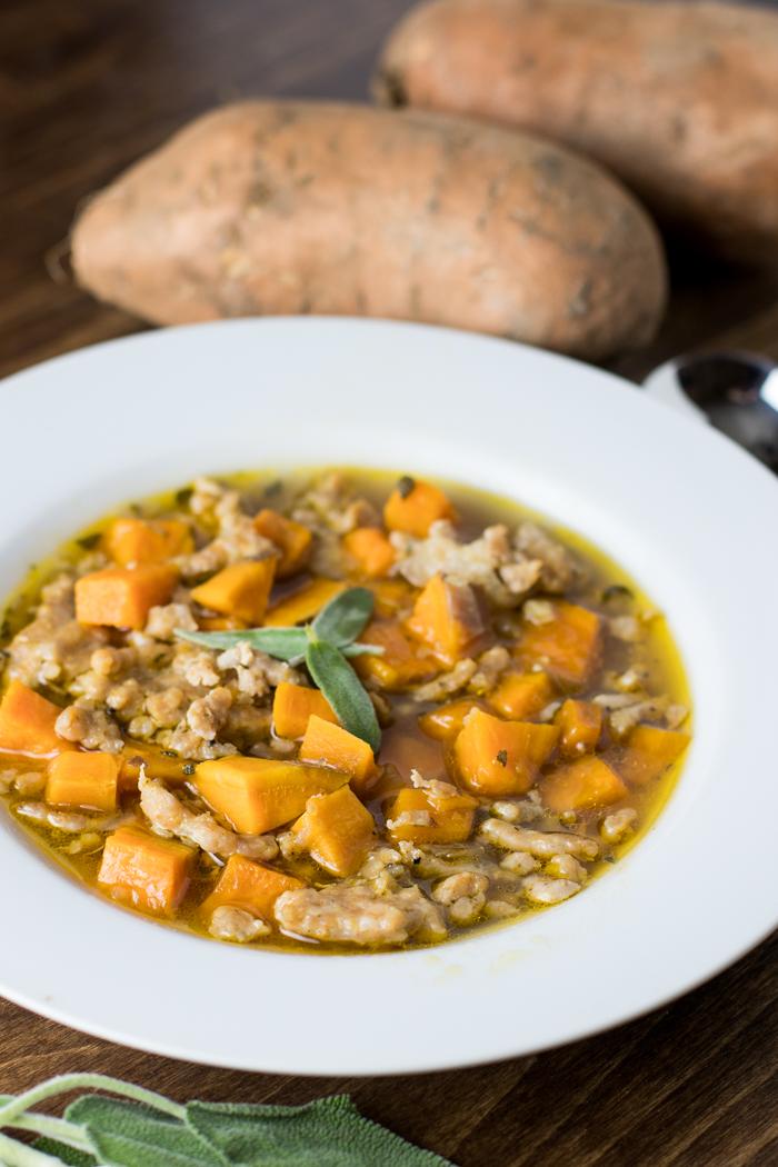 sausage and sweet potato soup