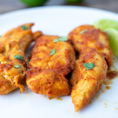 Paleo Honey Chipotle Chicken Tenders closeup