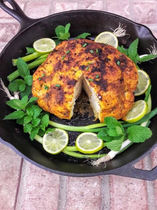 Cauliflower Whole Roasted -Tandoori Gobi -Keto, Vegan