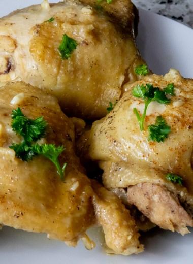 instant pot maple garlic chicken thighs