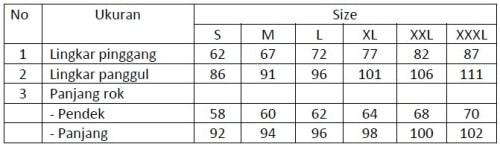 Ukuran Rok SMP
