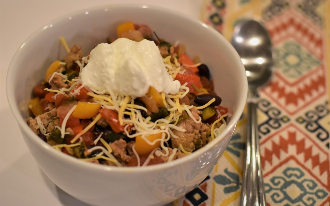 One-Pot Healthy 25 Minute Turkey Chili