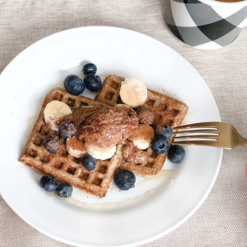 kitchfix grain free blueberry waffles