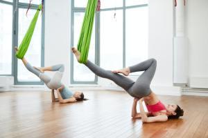 Aerial Yoga Practice