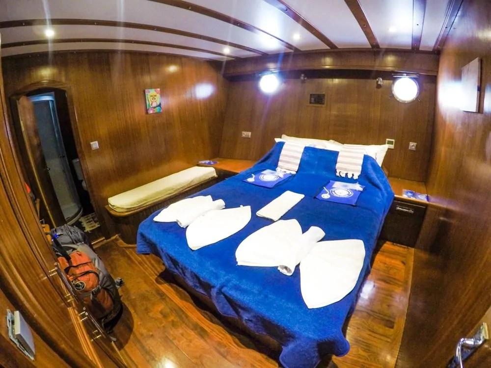 Gulet Sailboat Cabin
