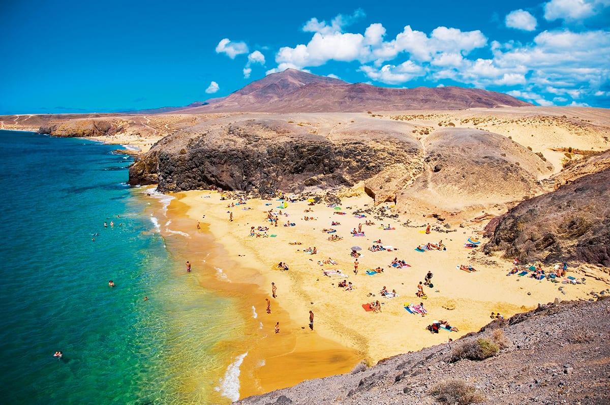 Spain, Canary Islands, Lanzarote Island, Playa Blanca, Playa del