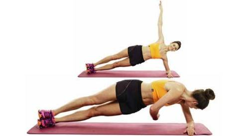 Image result for Side Plank and Rotate
