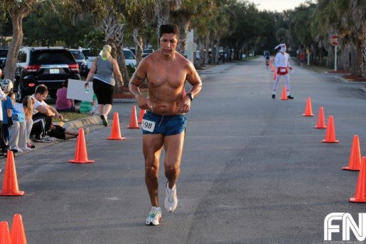 shirtless runner