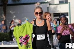 female runner in costume
