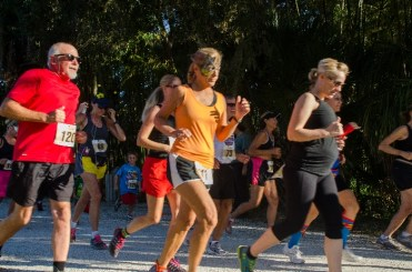 runners in costumes