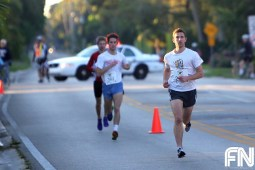man running in front