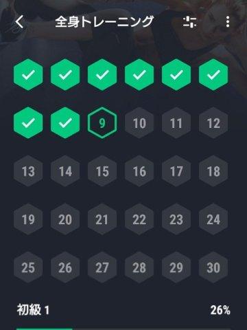 30日間フィットネスチャレンジ:予定表