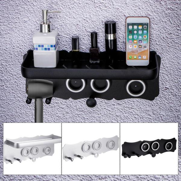 Magnetic Holder for Dyso Superson Hair Dryer Stand Bracket Mount Desktop Organizer - Black / M