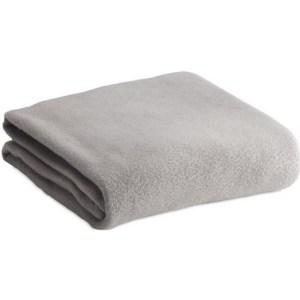 Zacht polar fleece plaid/dekentje/kleedje lichtgrijs 120 x 150 cm