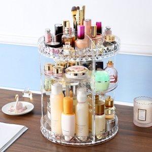 360 graden rotatie Transparant Acryl Cosmetica Opbergdoos Mode Spin multifunctionele Desktop Afneembare Make-up Beauty Organizer
