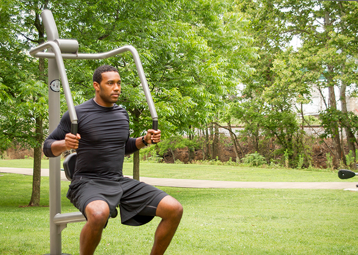 Chest Press  Outdoor Adult Fitness Parks  Balance Strength