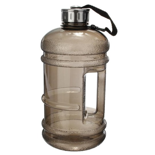 A 2.2 liter gray water tank