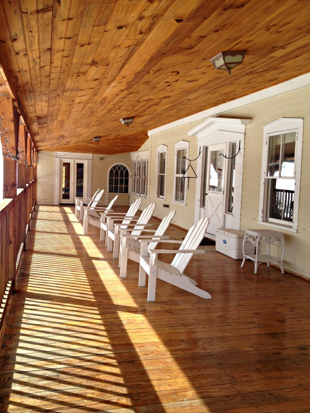 Perfect Vermont: Porch at Amee Lodge