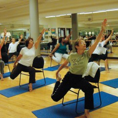 Yoga Chair Exercises For Seniors Swivel Upholstered Arthritis Prevention