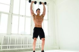 Man Working Out Dumbbell Clean and Press