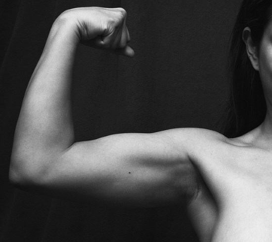 woman with arm muscles