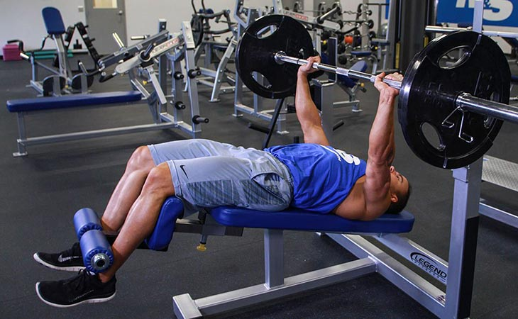 Man Carrying Out the Decline Bench Press For Chest