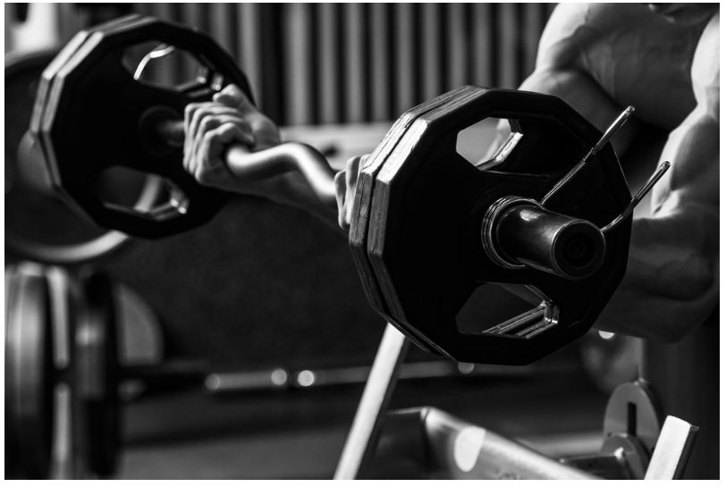 Using curl barbell