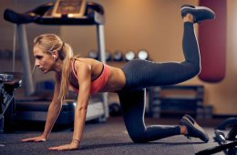 Woman Working Out Glute Kickback