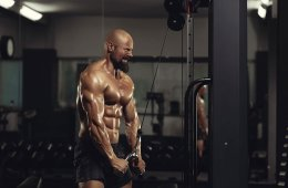 Man Working Out Tricep Pressdown