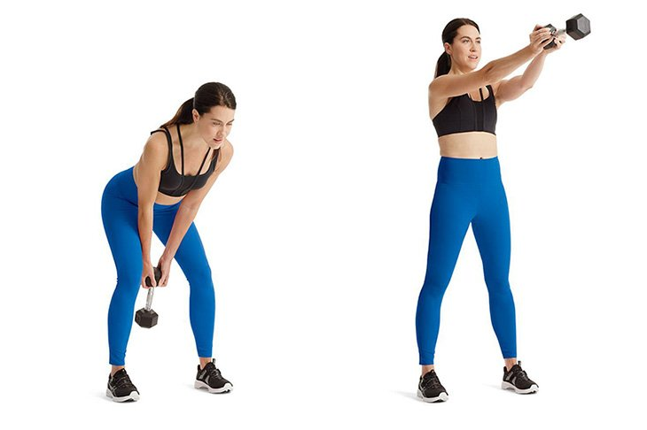 Dumbbell Swing Work Out