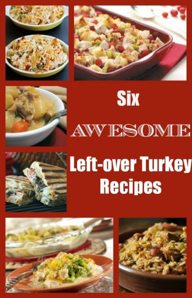 Got leftovers? Here are 6 awesome recipes for leftover turkey via http://www.fitnesscheerleader.com