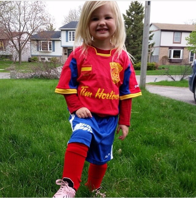 Cutest soccer player ever.